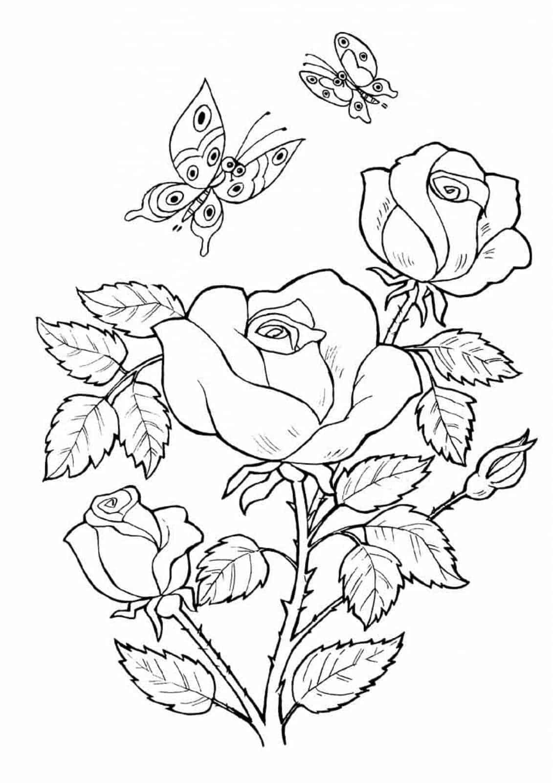 Printable Butterfly Coloring Pages Flower coloring pages
