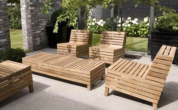 39 ideas about pallet outdoor furniture for modern look pallet rh pinterest com