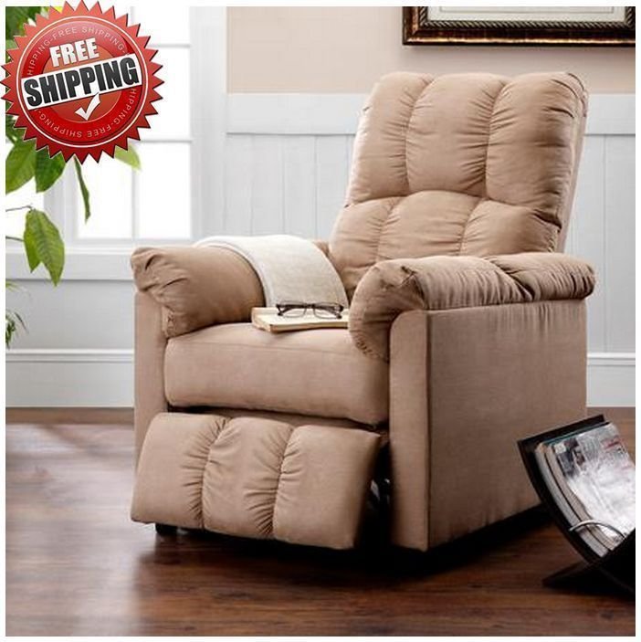 foot rests for living room%0A Details about Slim Recliner Chair Footrest Lounger Reclining Lazy Den  Nursery Small Area RV