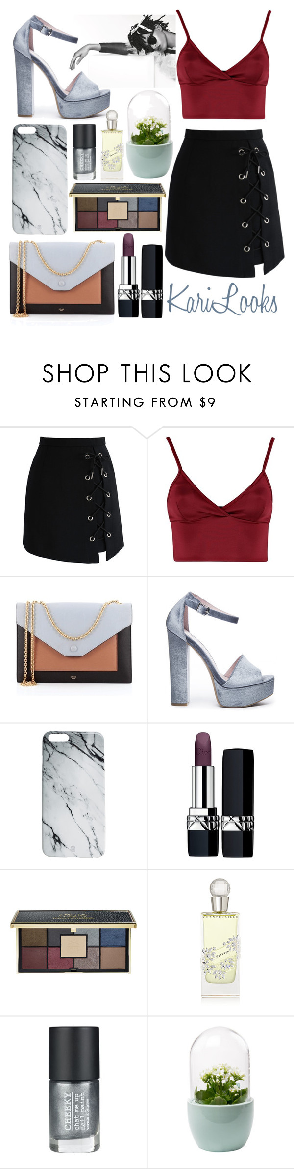 """""""MarblE"""" by karilooks ❤ liked on Polyvore featuring Chicwish, Chanel, Lipsy, CÉLINE, Chinese Laundry, Case Scenario, Christian Dior, Ciaté, Chantecaille and Cheeky"""