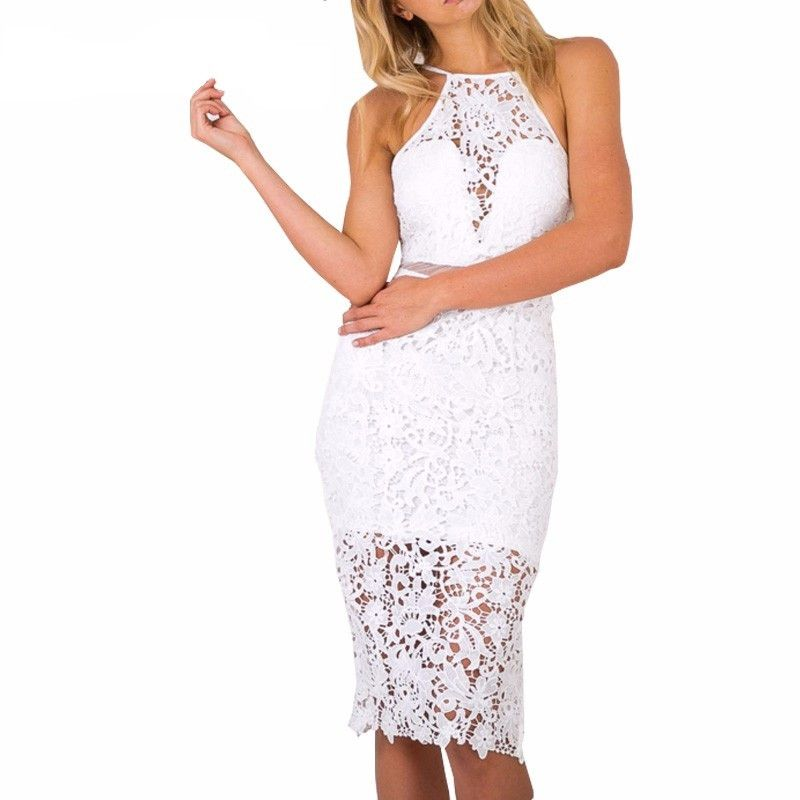 Fashion perfect hollow out with lace dress