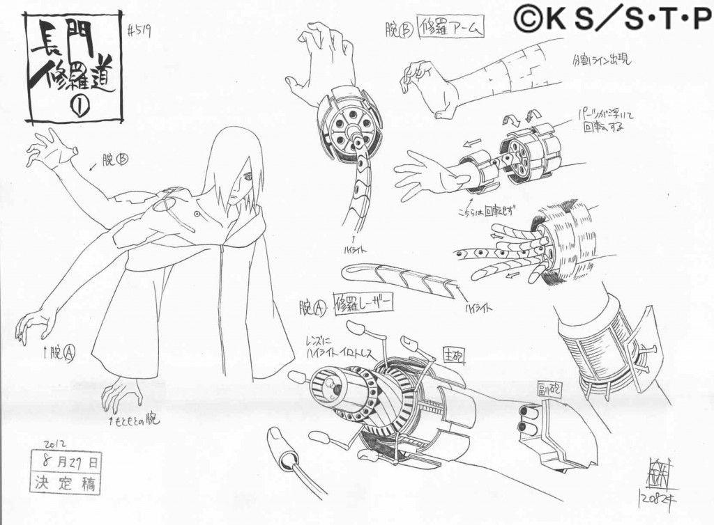 Nagato shuradou hand naruto model and reference sheets - Croquis naruto ...