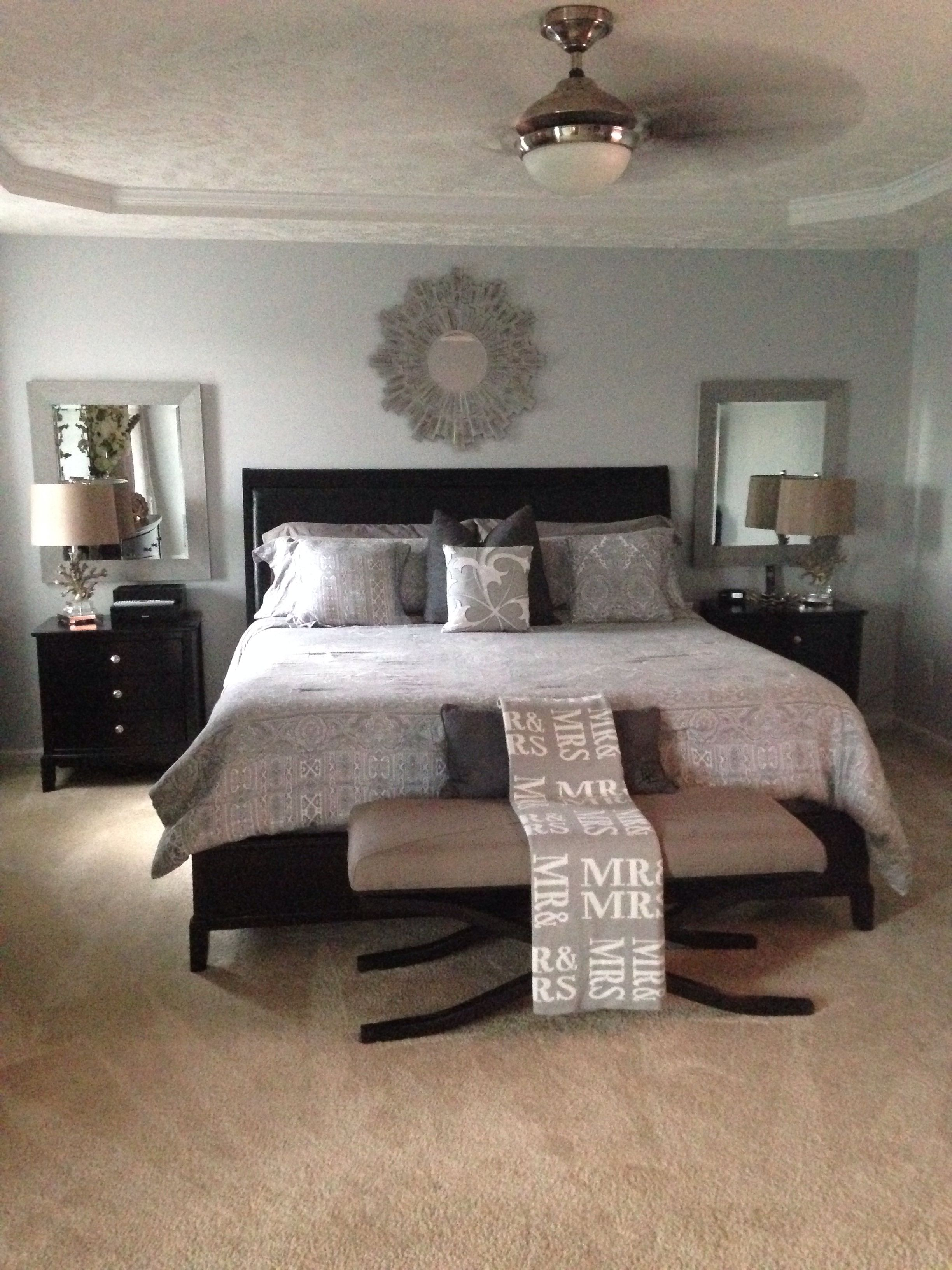 Master Bedroom. Changing the paint color made such a huge