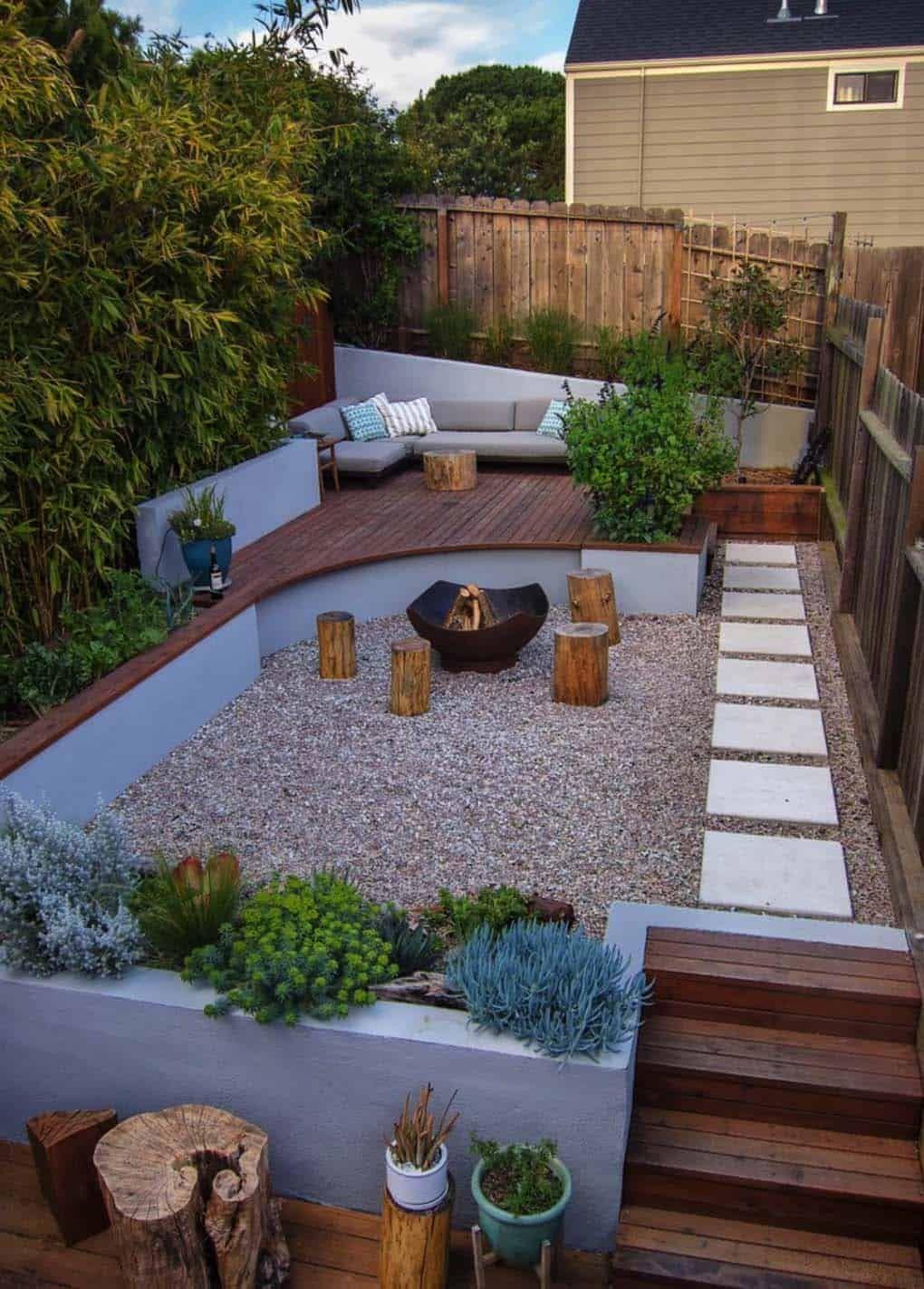 28 Inspiring Fire Pit Ideas To Create A Fabulous Backyard Oasis Small Backyard Garden Design Small Backyard Gardens Small Backyard Design