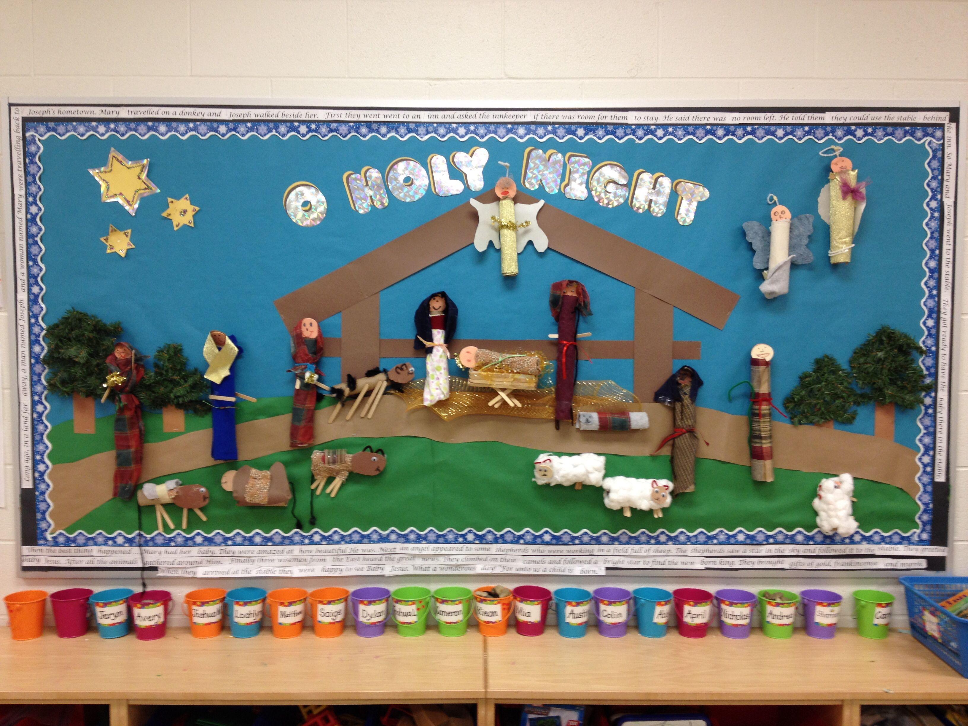 nativity bulletin board creative writing christmas bulletin rh pinterest com