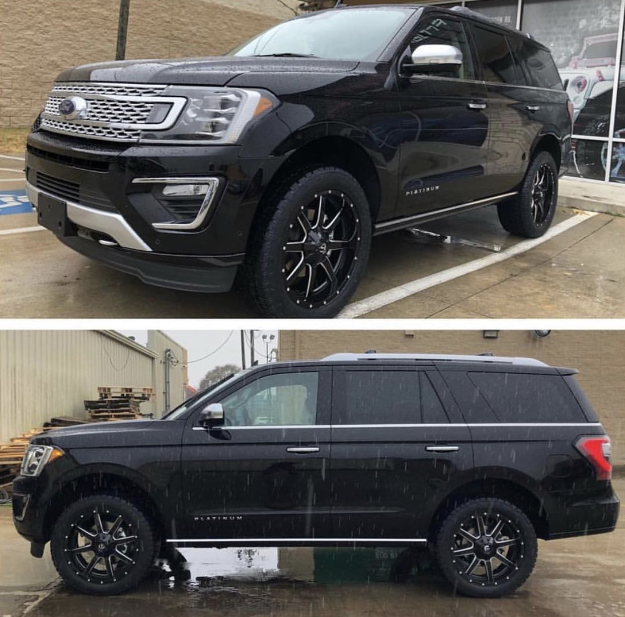 2018 Ford Expedition Lifted With Fuel Wheels With Images Ford
