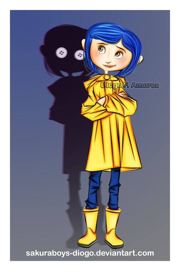 Coraline Take Reference From Another Drawing And Then Her Shadow Peeking Out From Behind Her Make Sure It Look Coraline Drawing Coraline Jones Coraline Art