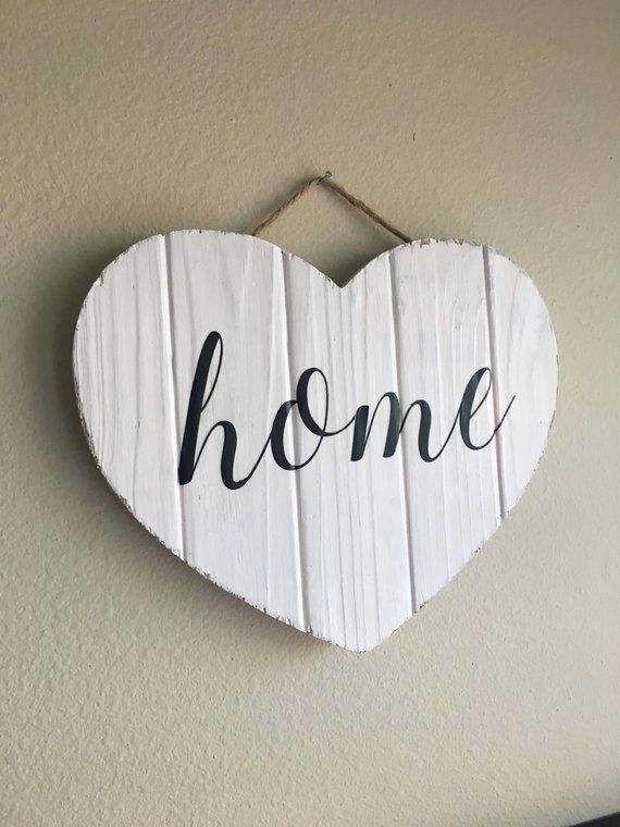 love is the heart of the home wood wall sign wall decor,