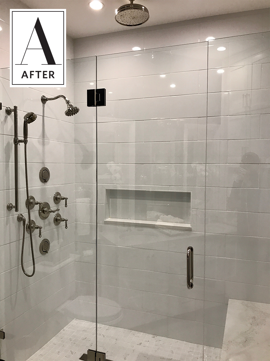before after wildly outdated bathroom totally transforms home rh pinterest com