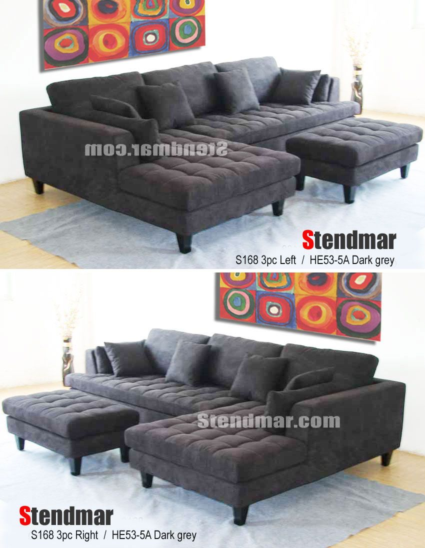 Stendmar Sofa 3 Piece Sectional With A Chaise And Ottoman