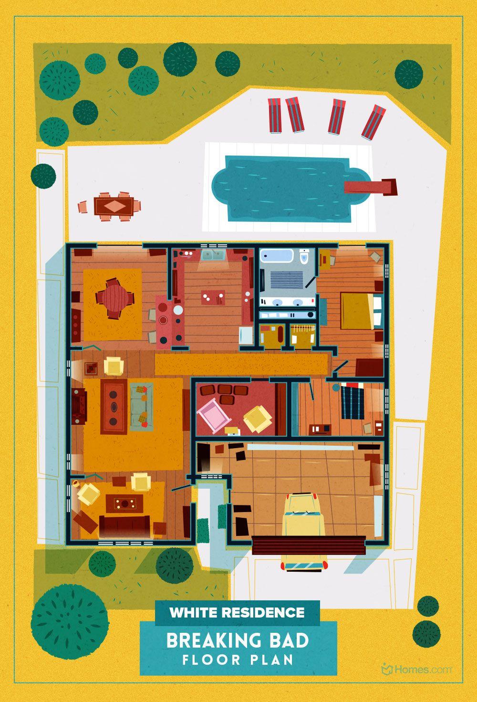 8 home floor plans from cult tv shows pinterest rh pinterest ca