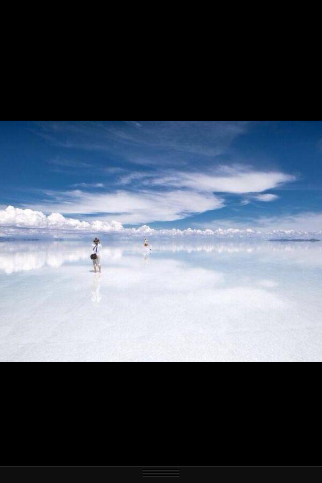 Where the Earth meets the sky. Bolivia