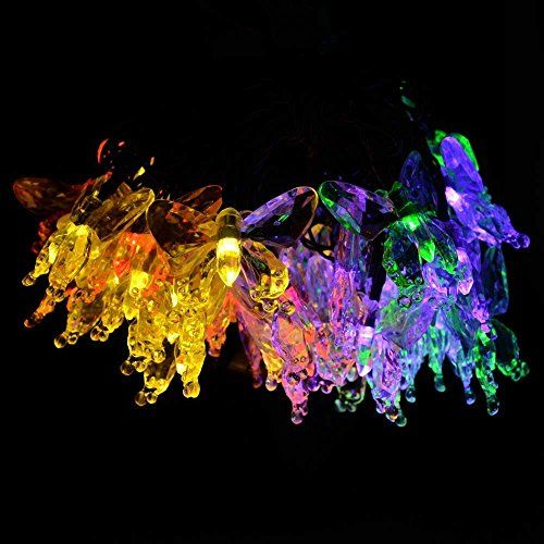 PYSICAL(TM) Solar Fairy String Lights 10m/33ft 60 LED Butterfly Decorative Gardens, Lawn, Patio, Christmas Trees, Weddings, Parties, Indoor and Outdoor (RGB) PYSICAL(TM) http://www.amazon.com/dp/B00W1SS0ZG/ref=cm_sw_r_pi_dp_fUYfwb0Y1DK0S
