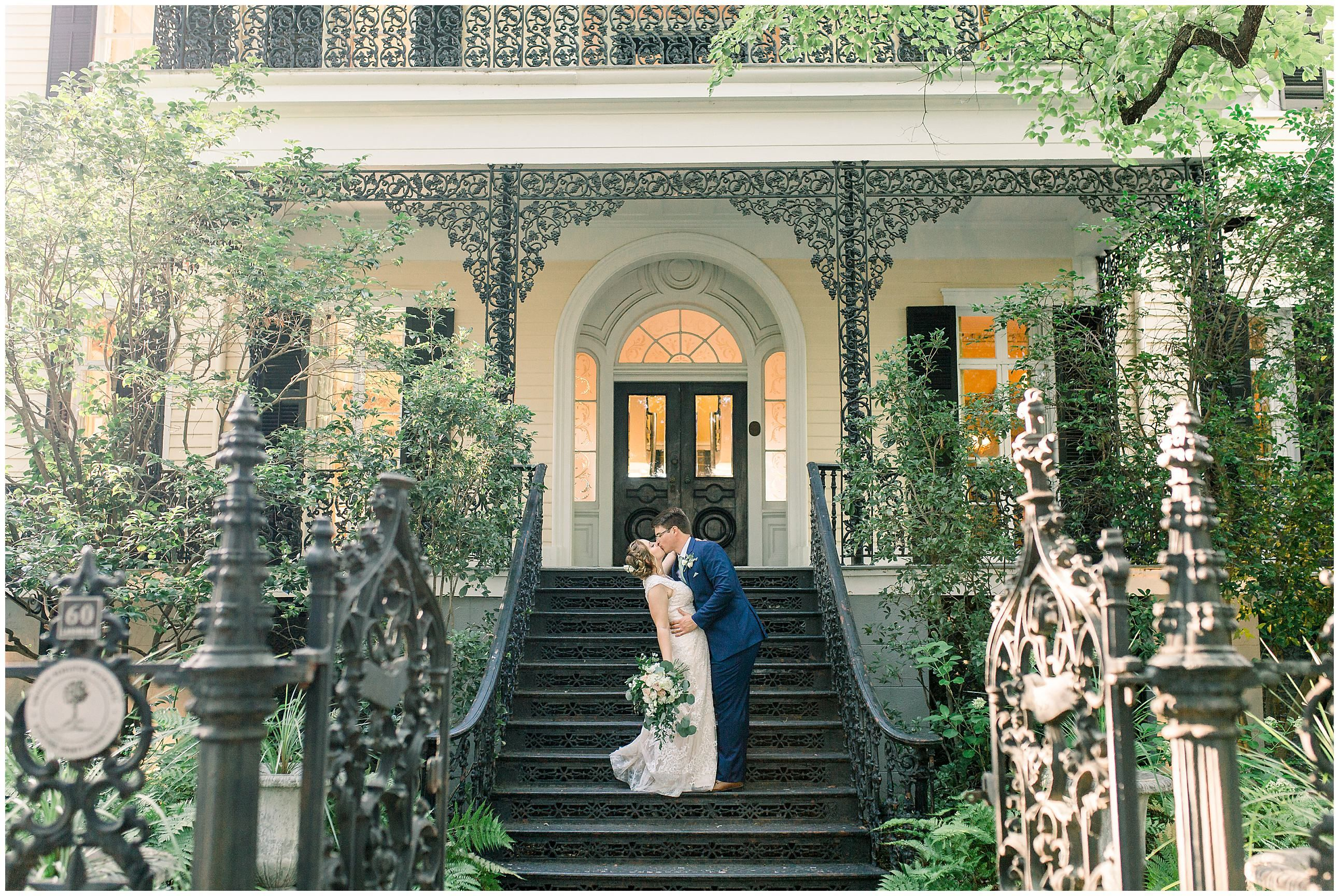 Beautiful sage wedding at the lace house in columbia