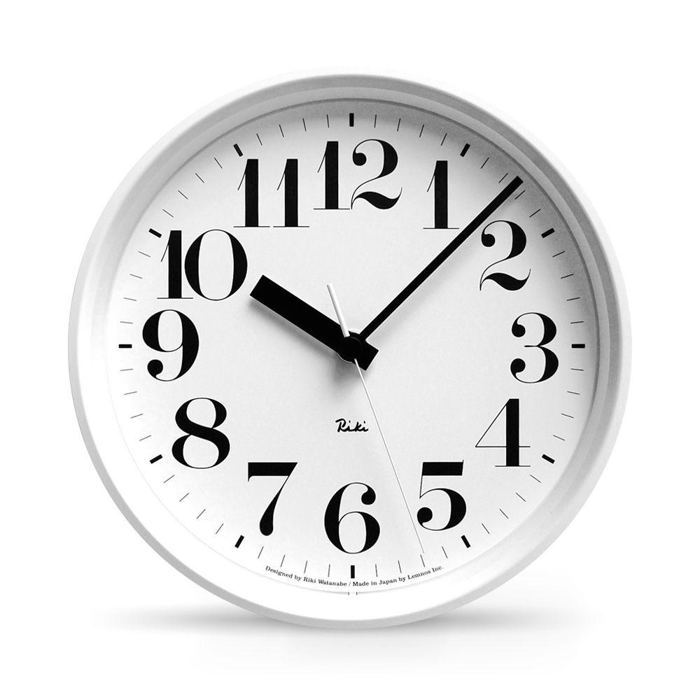 Tolle Designuhr In Weiss Riki Steel Arabic Von Lemnos Uhrideen Designer Uhren Wanduhr