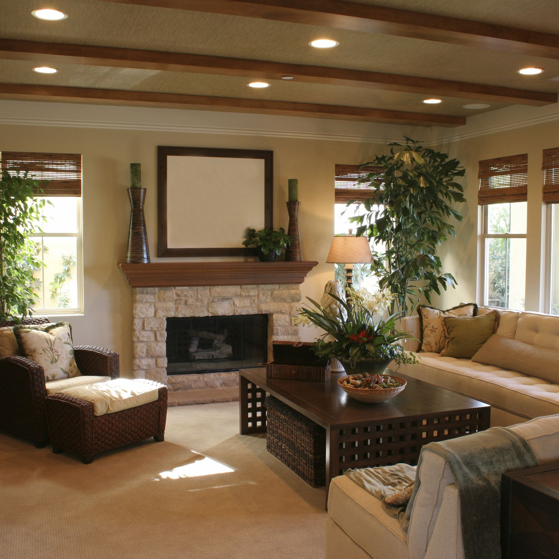 Cozy living room recessed lights found at