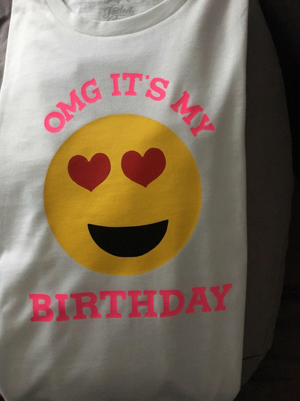 Emoji Birthday Shirt Etsy Listing 476860380