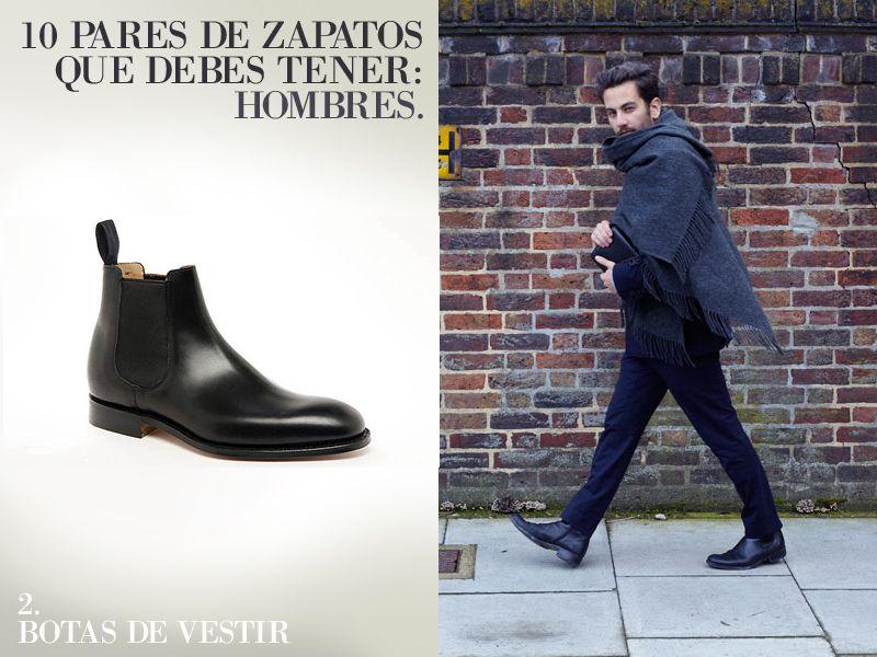10 pares de zapatos que un hombre debe de tener.