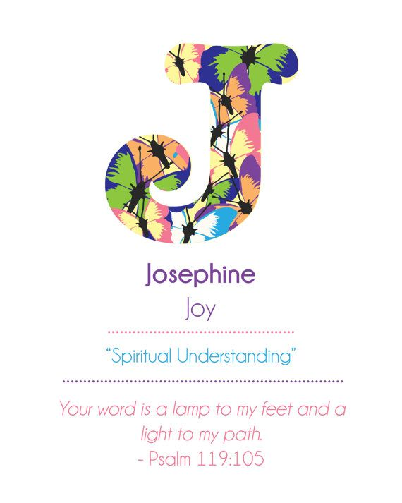 Meaning of Name Art with bible verse or quote by TinyLovePrints