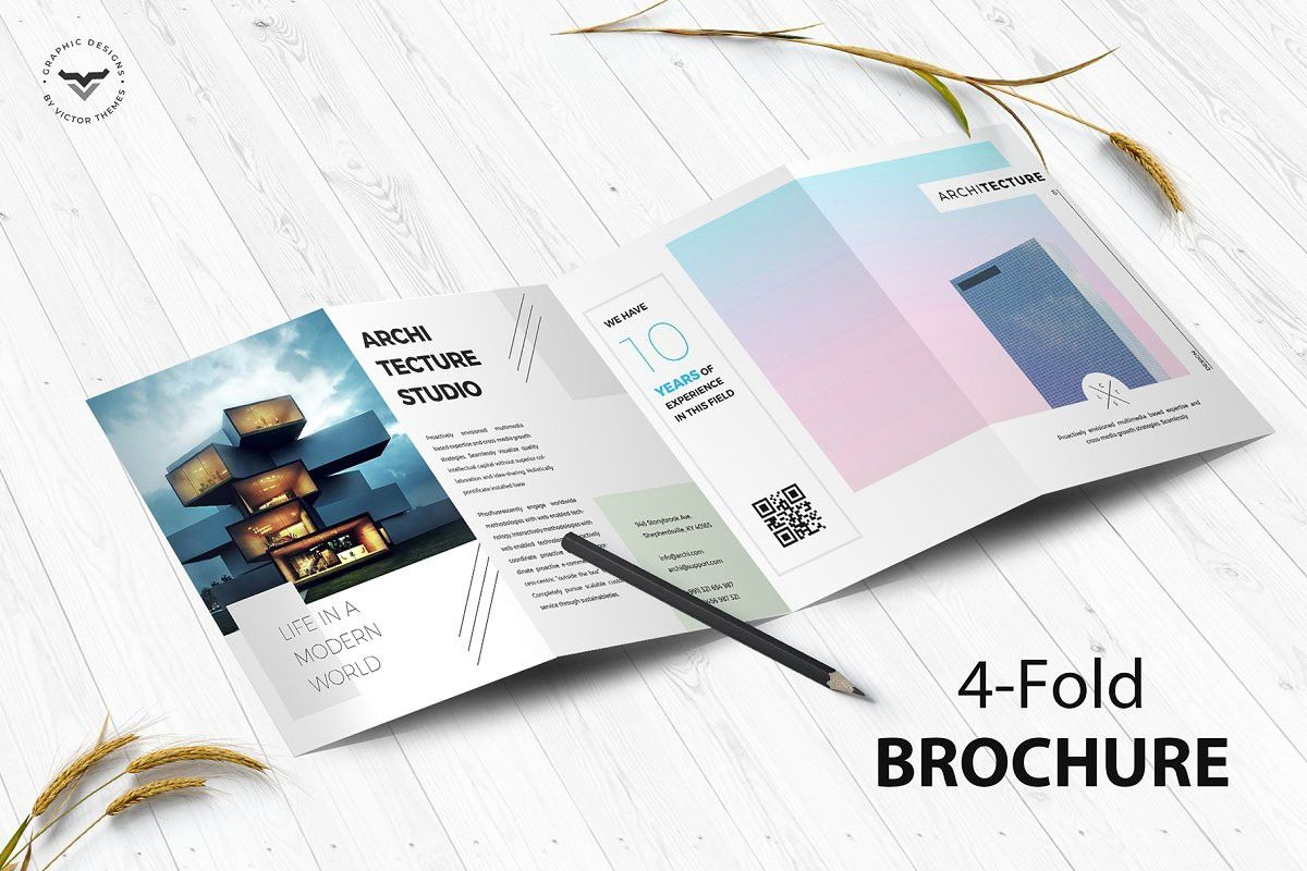 Sign In Architecture 4 Fold Brochure Brochure Design Template Brochure Template Brochure Template Psd