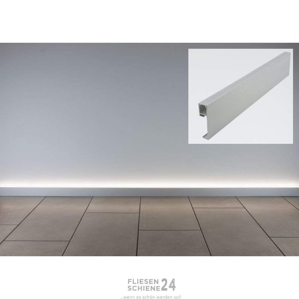 Fliesenschiene24 Led Sockelleiste Alu 250cm Sockelleisten Fussbodenleiste Led