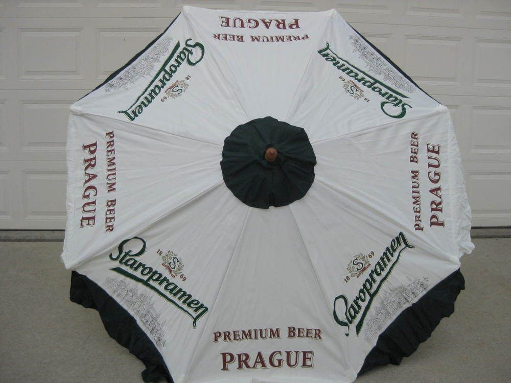 STAROPRAMEN 7 FT PATIO UMBRELLA PREMIUM BEER FROM PRAGUE | EBay