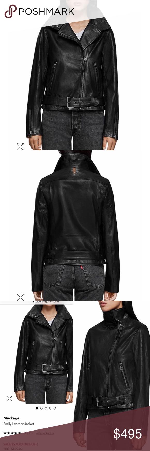 Mackage Emily Lambskin Leather Moto Jacket This Mackage Lambskin Leather Jacket Is Chic And Stylish Gorgeo Leather Moto Jacket Lambskin Leather Mackage Jacket