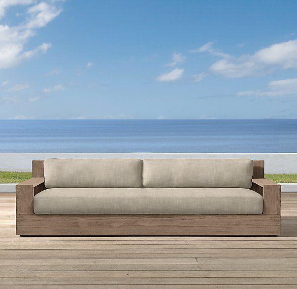 84 Marbella Teak Classic Sofa Cushions Outdoor Classic Sofa