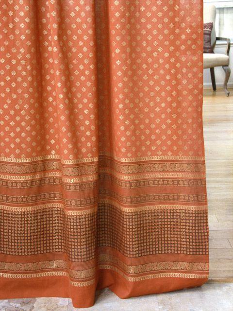 orange curtain burnt orange sheer curtain rust curtains spice colored curtains indian
