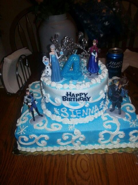 Siennas frozen cake from Publix Frozen parties Pinterest