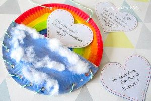 Arty Crafty Kids   Book Club   Craft Ideas for Kids   Rainbow Paper Plate Bag