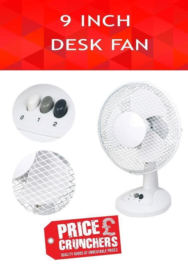 9 Table Desk Air Cooling Fan Oscillating Standing Portable Office Energy Saving Highlands Office Fan Desk Fan Fan