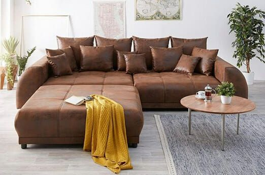 delife big sofa violetta 310x135 braun antik optik hocker in 2018 rh pinterest com