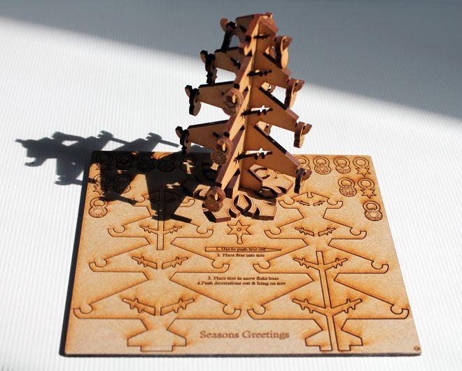 3D XmasTree card