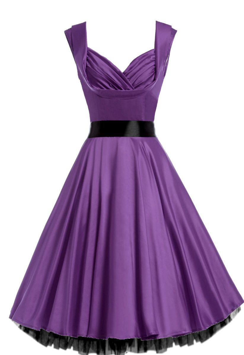 Marilyn 1950s Violet Purple Satin Cocktail Dress | Pinterest