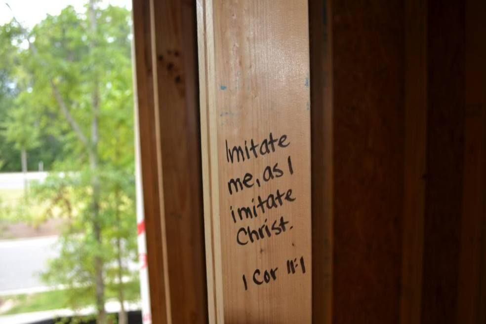 bible verses for each room of a new house written on studs rh pinterest com