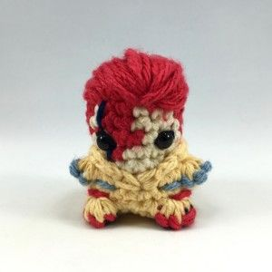 crocheted david bowie ziggy stardust