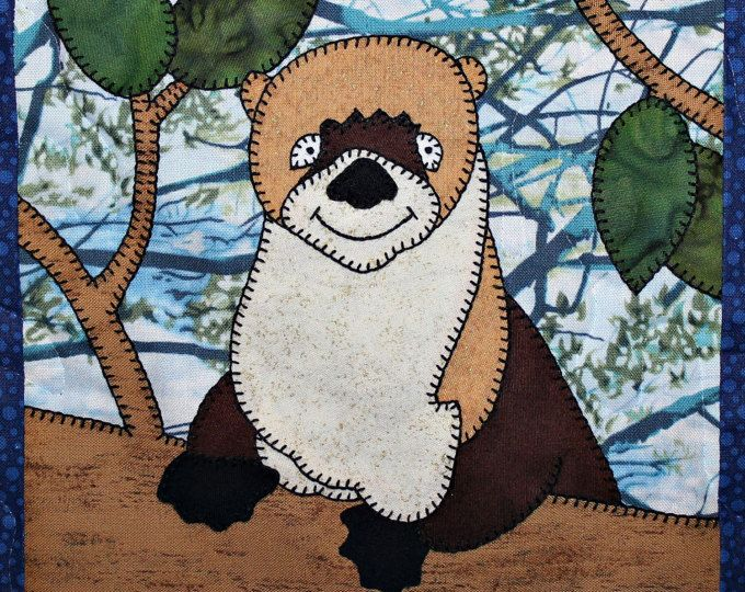 Woodland animals applique quilt pattern woodland creatures baby