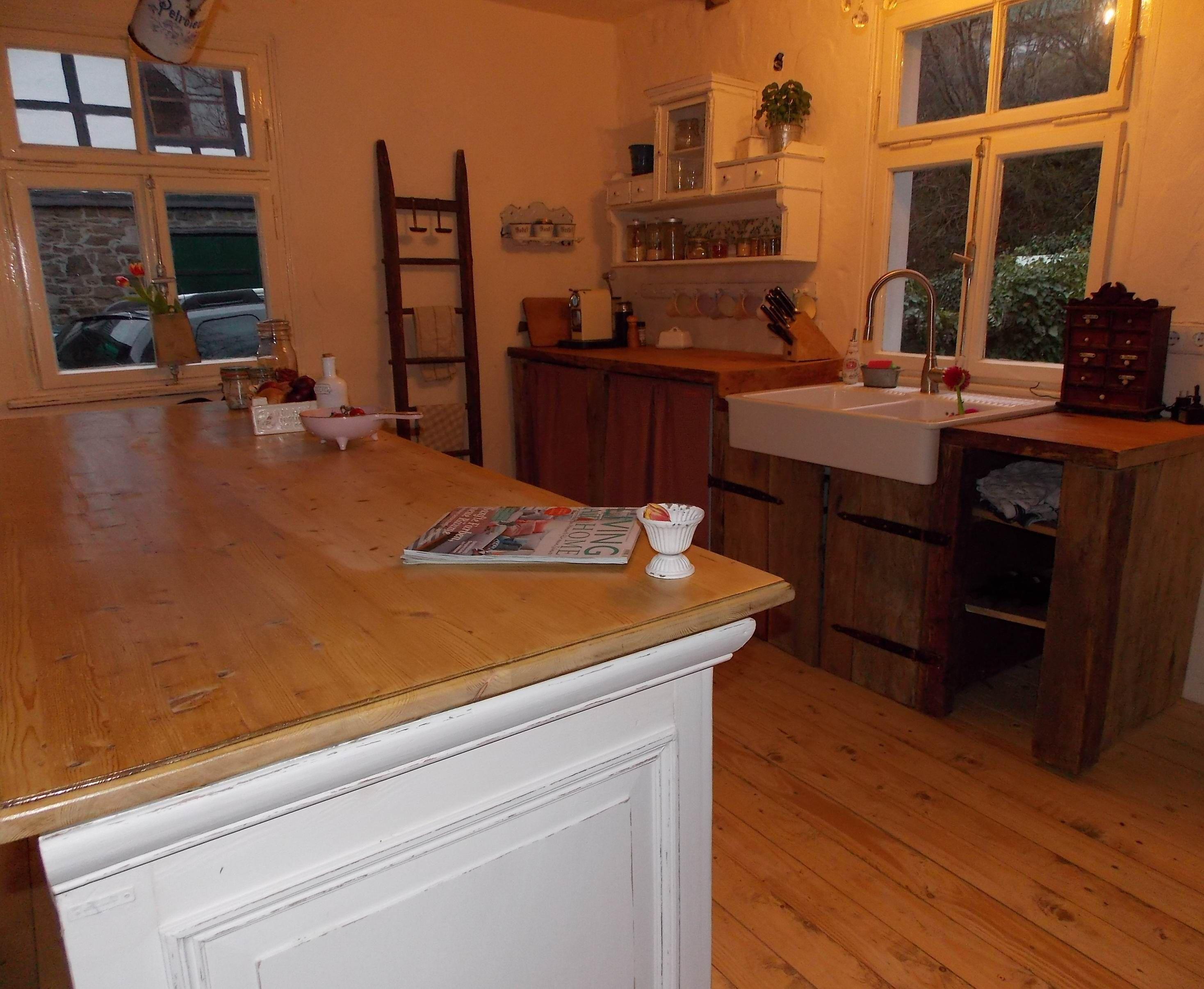 Kücheninsel in unserer shabby chic Landhaus Küche www.casamanolo.de ...
