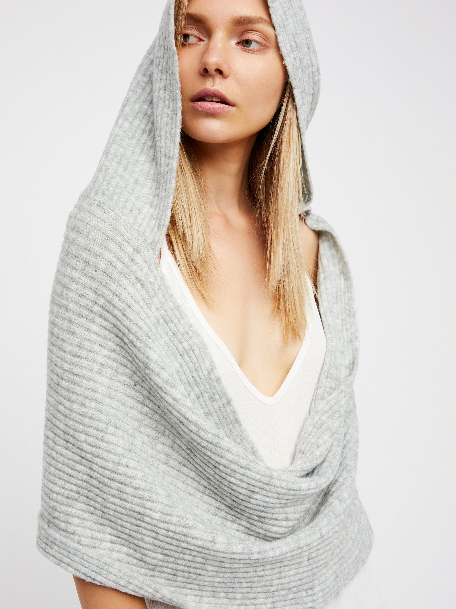 Bottom Line Hooded Rib Cowl New outfits, Clothes, Women