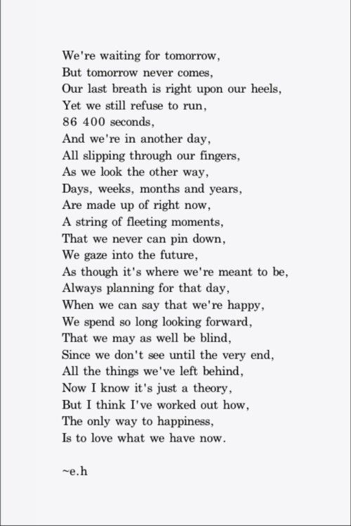 life Happy poems tumblr about