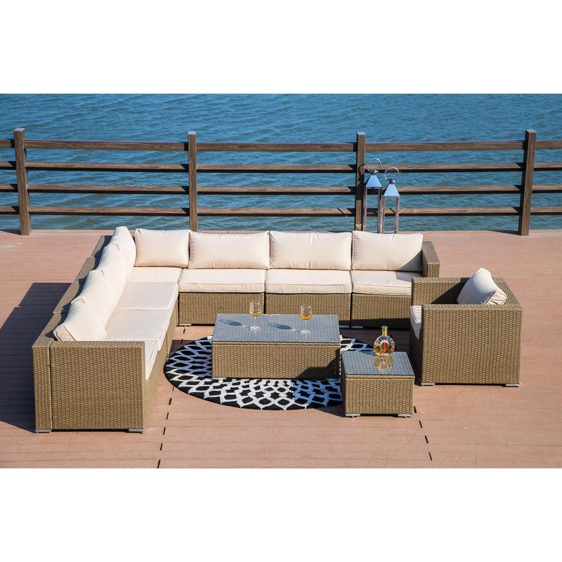 Cheap But Quality Vanlandingham 10 Piece Rattan Sectional Set With Cushions By Brayden Studio Modular Sectional Sofa Seating Groups Furniture