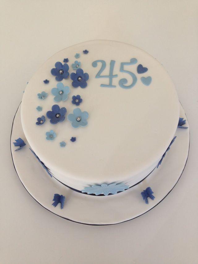 sapphire wedding anniversary invitations%0A Cake