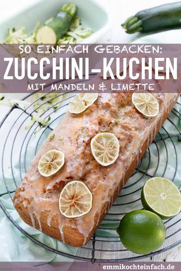 Zucchini Kuchen mit Mandeln und Limette - emmikochteinfach