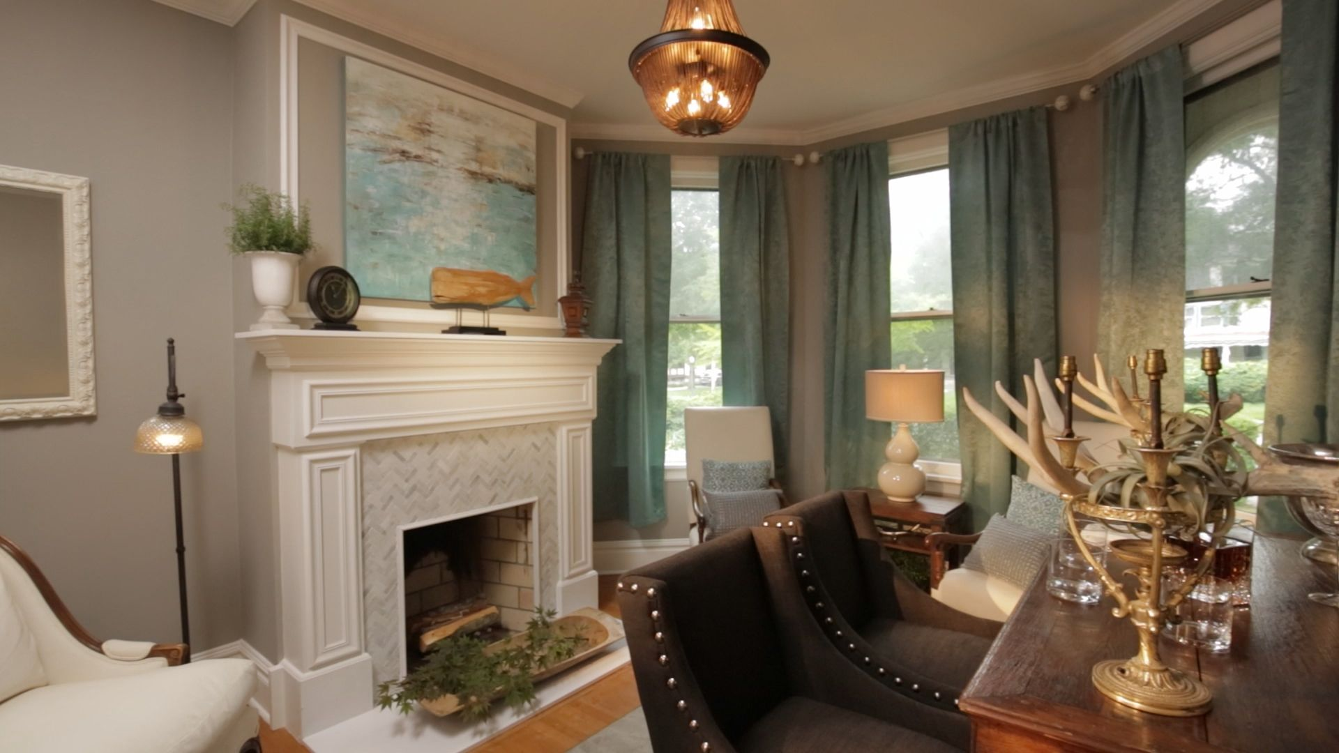 Modern family living room an outdated victorian home just became a modern familyfriendly