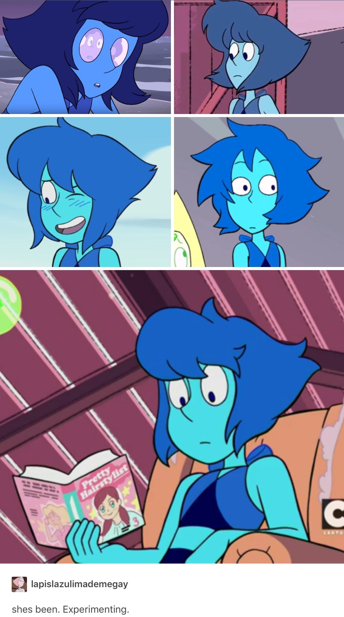 Why Lapis S Hair Has Been Changing Lapis Lazuli Steven Universe
