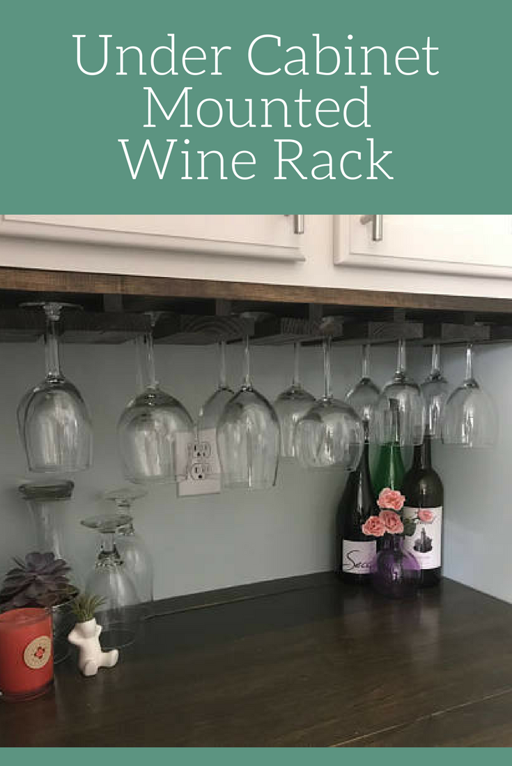 Under Cabinet Mounted Rustic Wood Wine Rack Rustic Decor Kitchen