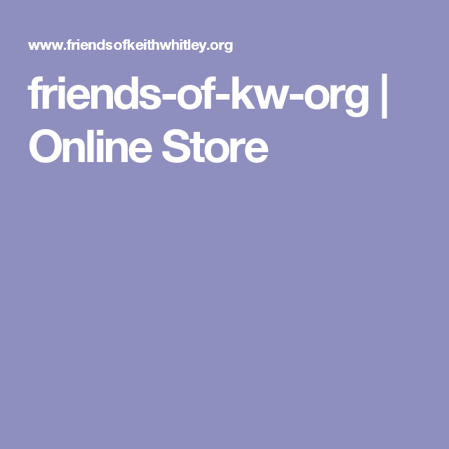 friends-of-kw-org | Online Store