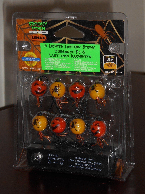 Lightedlanternstringlemaxspookytowncollectionbattery