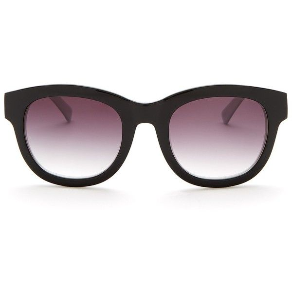 Elie Tahari Women's Plastic Round Sunglasses ($50) ❤ liked on Polyvore featuring accessories, eyewear, sunglasses, plastic sunglasses, round sunglasses, retro sunglasses, tortoiseshell sunglasses and round tortoise sunglasses